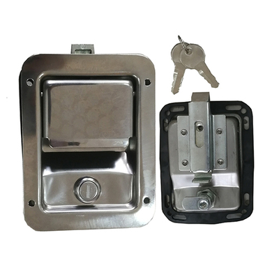 HC-B-10187-1 BUS EASY LOCK WITH KEY STAINLESS STEEL SILVER