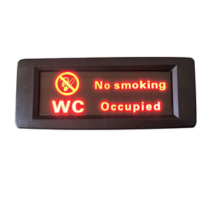 HC-B-53023 BUS PARTS DIGITAL CLOCK TOILET SIGN 185*76MM