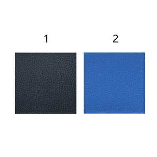 HC-B-17077 BUS SEAT LEATHER FABRIC BLACK BLUE
